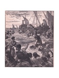 Landing of the Romans on the Coast of Kent Giclee Print by Henry Marriott Paget