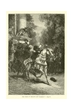 The Duke of Orleans and Charles V Giclee Print