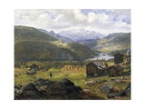 Norwegian Valley Giclee Print by Johan Christian Clausen Dahl