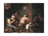 Man Lighting His Pipe Giclee Print by Abraham Teniers