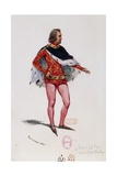 Costume Sketch Giclee Print by Paul Lormier