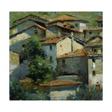 Tuscan Mansions Giclee Print by Pompeo Massani