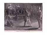 Meeting of the Shire-Moot Ad 839 Giclee Print by Walter Paget