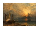 Waiting for the Tide, Sunset, 1866 Giclee Print by Henry Dawson