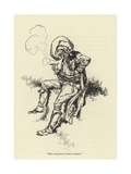 """What a Long Time it Is Since I Smoked!"" Giclee Print by René Bull"