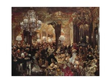 Ballsouper, 1878 Giclee Print by Adolph Menzel