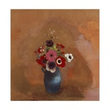 Anemones in Blue Vase Giclee Print by Odilon Redon