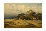 Haymaking, 1881 Giclee Print by Benjamin Williams Leader