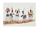 Dance of Slaves, Watercolor Giclee Print by Carlos Juliao