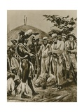 A Talk with the Zulus in Natal's Early Days Giclee Print by Richard Caton Woodville II
