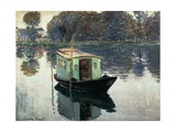 Boat Studio, 1874, Oil on Canvas Giclee Print by Claude Monet