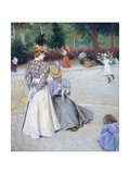 Games at Park Giclee Print by Federico Zandomeneghi