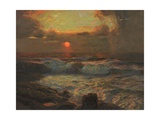 Sunset at Land's End, Cornwall Giclee Print by Albert Julius Olsson