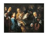 Concert, Ca 1755 Giclée-tryk af Gaspare Traversi