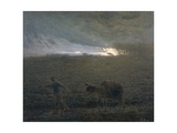 The Man and the Donkey Giclee Print by Jean-François Millet