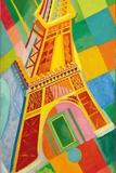 Eiffel Tower, 1926 Giclée-tryk af Robert Delaunay