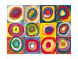 Wassily Kandinsky - Barevná studie čtverců (Farbstudie Quadrate, cca1913) Plakát