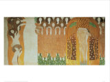 Beethoven Frieze Print by Gustav Klimt
