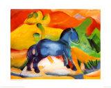 Little Blue Horse Poster af Franz Marc