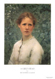 A Girl's Head Posters by Sir George Clausen
