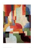 Farbige Formen I, 1933 Plakater af Auguste Macke