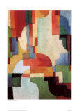 Farbige Formen I, 1933 Prints by Auguste Macke