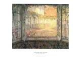 Courtyard from a Window Posters av Henri Le Sidaner