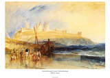 Dunstanborough Castle, North Prints by William Turner
