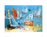 Bateaux Dans Ie Port Poster by Raoul Dufy