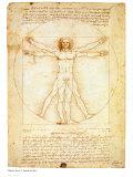 Hombre de Vitruvio, ca. 1492 Arte por  Leonardo da Vinci