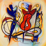 Spontanes Jammen|Spontaneous Jam Kunst von Alfred Gockel