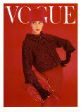 Couverture de Vogue, rose rouge, août 1956 Affiches par Norman Parkinson
