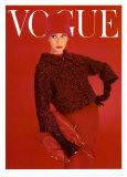 Couverture de Vogue, rose rouge, août 1956 Affiches par Norman Parkinson