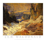 Falls, Montreal River Art by J. E. H. MacDonald