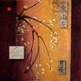 Oriental Blossoms II Poster by Don Li-Leger