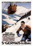 St. Gervais Posters by Roger Broders