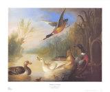 Wasservogel in einer Landschaft Kunstdrucke von Marmaduke Cradock