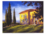 Rural Villa Prints by M. Downs