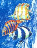 Orangefarbener Fisch Kunstdrucke von  Cruz