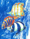 Orange Fish Prints by  Cruz