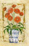 Ceramica con Gerberas Prints by A. Vega