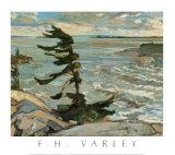 Tempête en baie Georgienne Affiches par Frederick Varley
