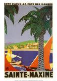 Sainte-Maxime Plakater av Roger Broders