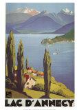 Lac Dannecy Posters av Roger Broders
