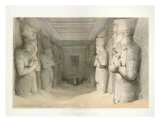 Temple Of Aboo Simbel Prints by D. Roberts