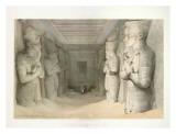 Templo de Abú Simbel Láminas por D. Roberts