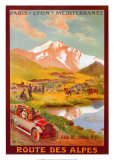 Route Des Alpes Posters by René Péan