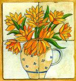 Jarras con Flores I Print by V. Alber