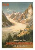 Eisenbahn Chamonix-Montenvers Kunstdrucke von  Bourgeois
