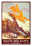 Route Des Alpes Posters by Julien Lacaze